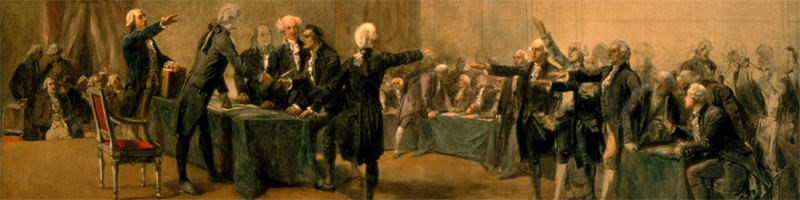 Signing the US Declaration of Independence with a glass of Madeira