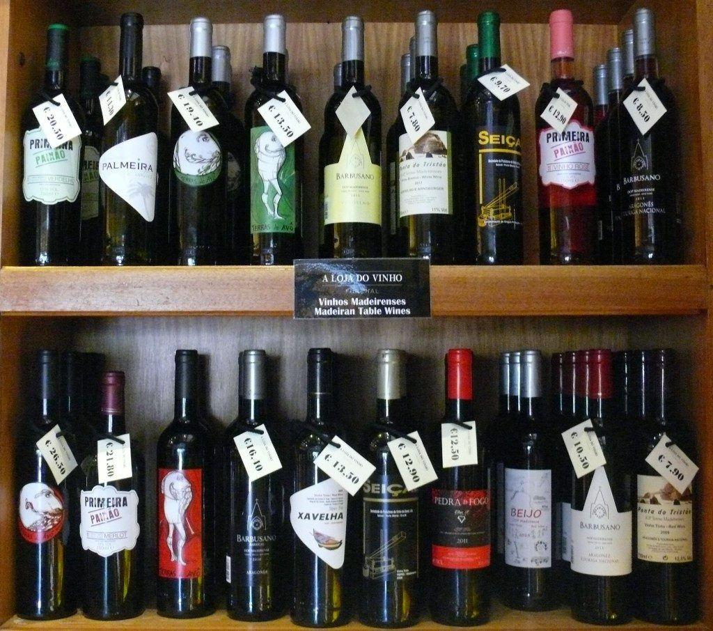 Various Table Wines from Madeira Island