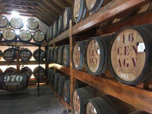 Rum barrels in the Rum House