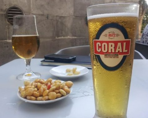 Tremoços, Coral Beer and Wine on Madeira
