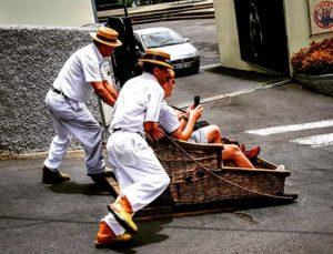 Monte Wicker Basket Sledges on Madeira