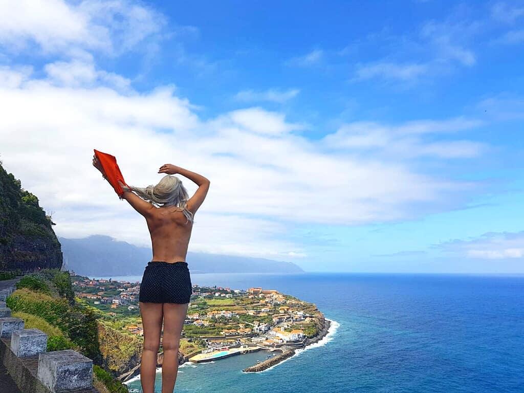 Ponta Delgada, Madeira Oben ohne