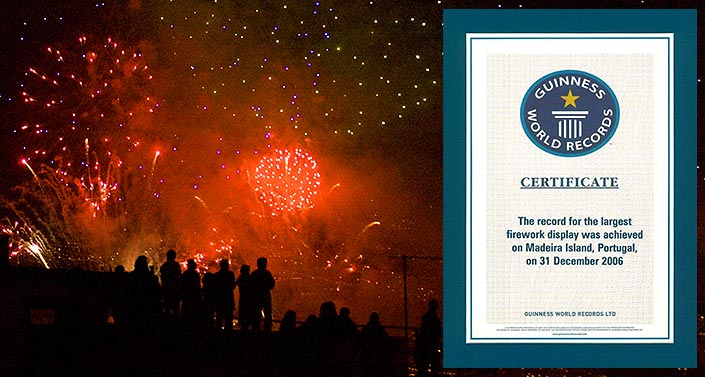 Guinness World Record Fireworks Funchal Madeira Portugal