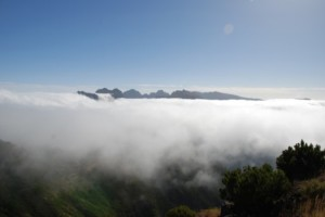 Cloud sea, viewed from the south slope of Paul da Serra. Madeira