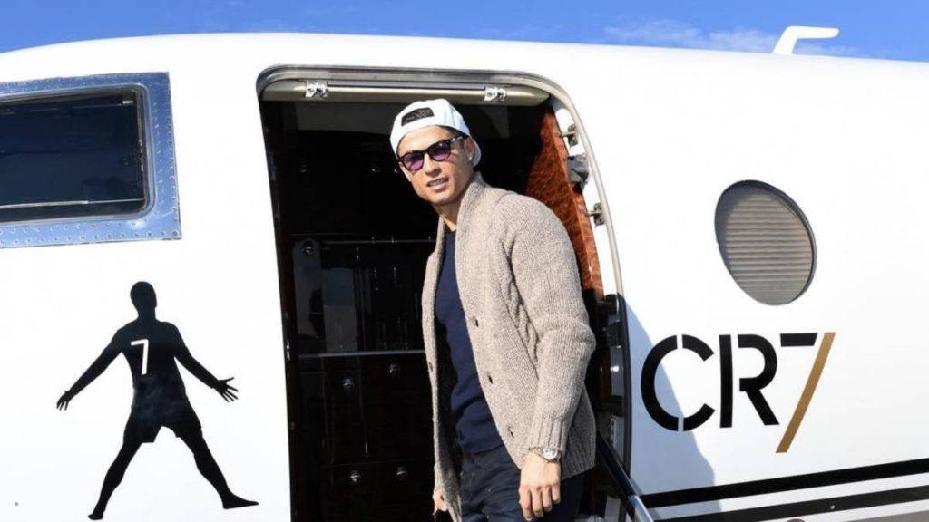 Avion à réaction privé Cristiano Ronaldo