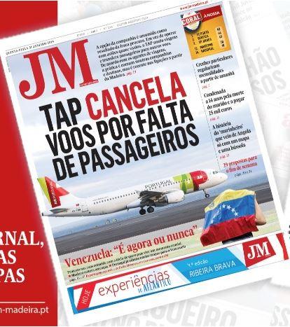 JM-31.1.19 TAP Storniert Flüge zwischen Lissabon und Madeira