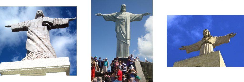 Cristo Rei Madeira - Cristo Rei Rio Brasil - Cristo Rei Lisbon Portugal