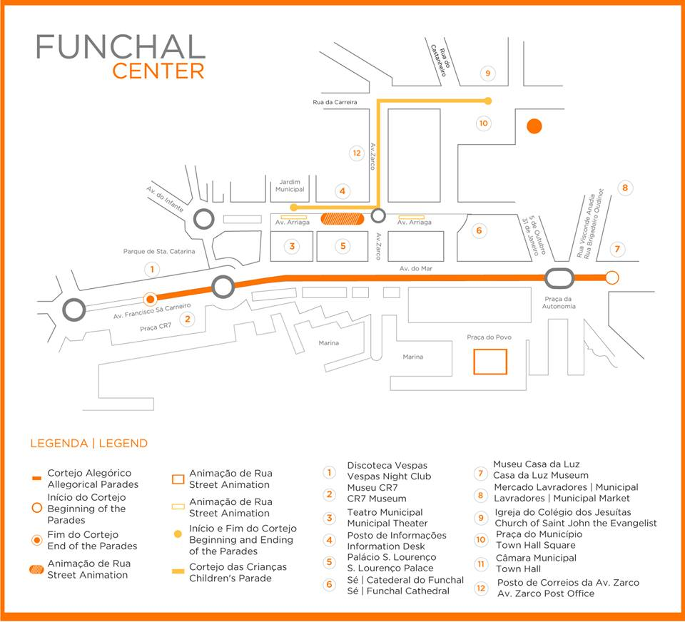 Flower Festival Map Festa do Flor Funchal Madeira POrtugal
