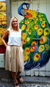 Olga Drak Painted Door Funchal Madeira1 Rue Santa Maria