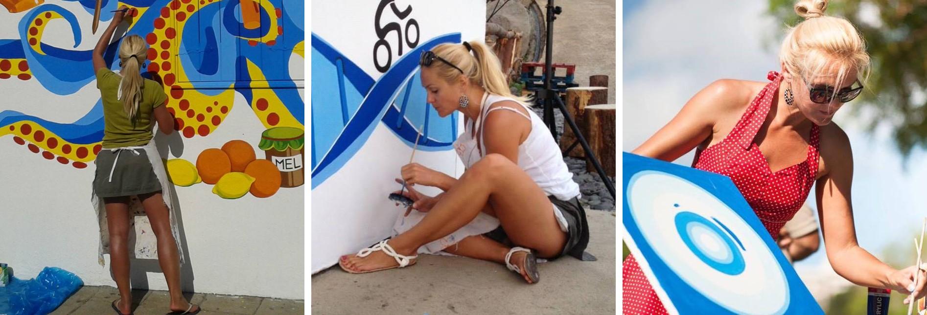 Olga Drak Painting on Madeira