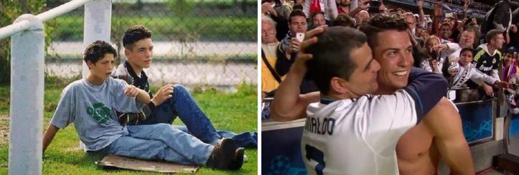 Cristiano Ronaldo and friend