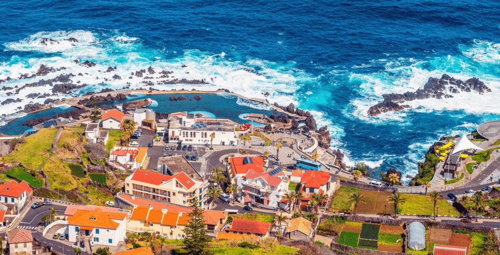 Porto Moniz Lava Pools Madeira subtropical weather Portugal Webcams weather forecast