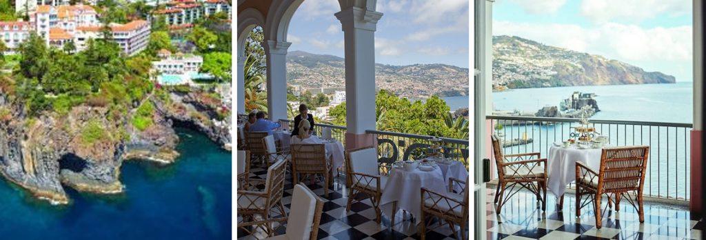 Terrasse mit Blick auf Funchal Belmond Reids Hotel Funchal Madeira