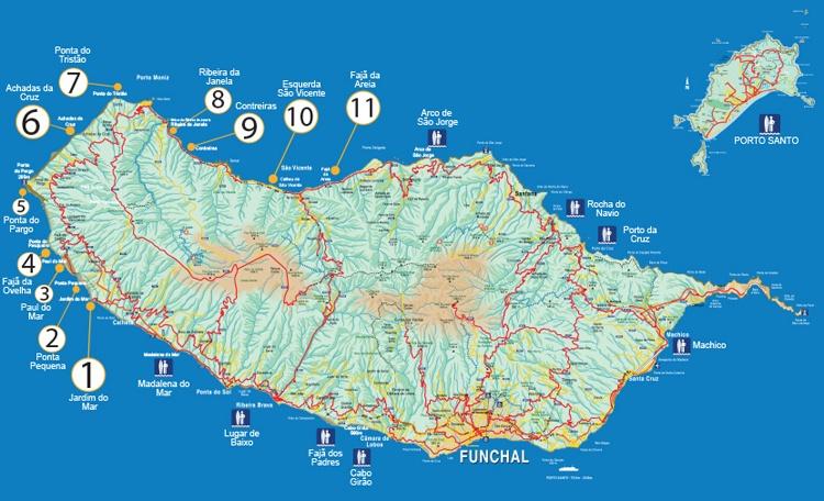 Surf spots Madeira