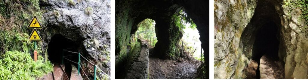 Tunnels of Levada do Caldeirao Verde Madeira Portugal