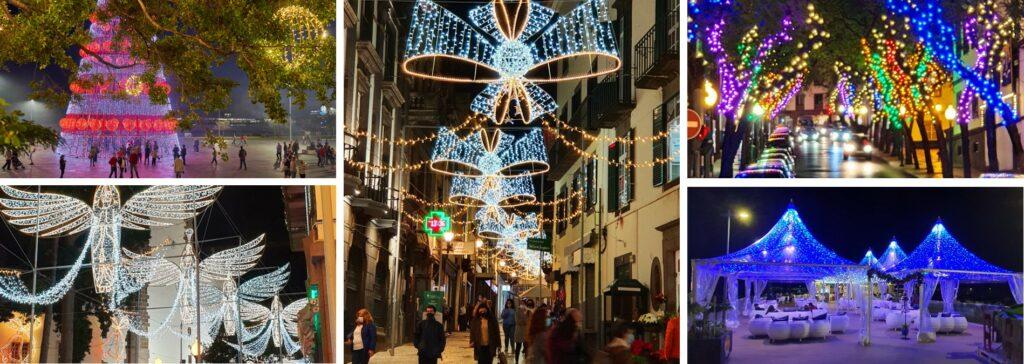 Festive lights in Funchal Madeira Christmas 2020