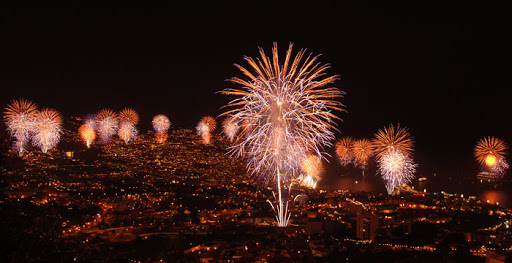 Fireworks Madeira New Year
