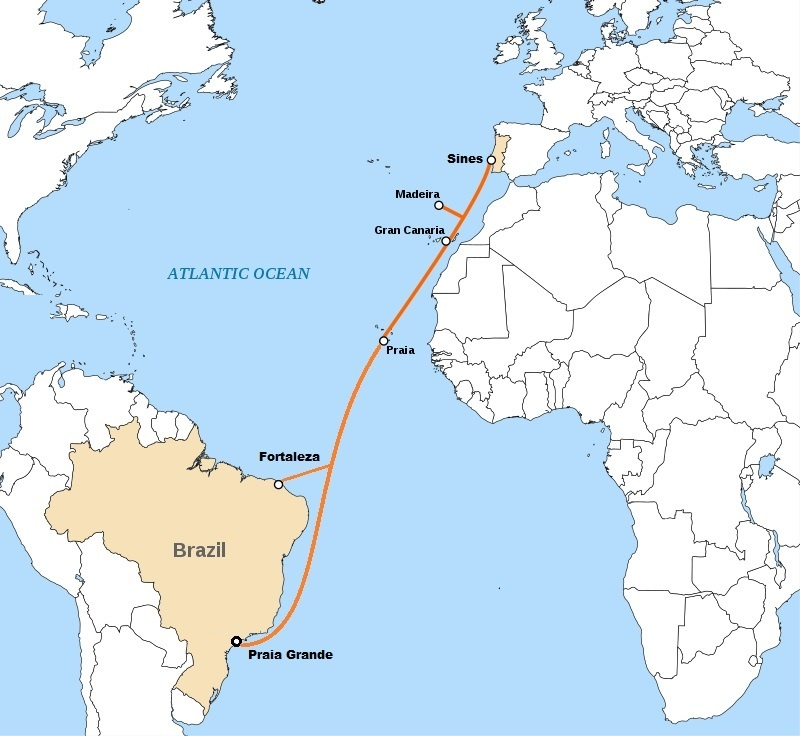 EllaLink Submarine Telecommunications Cable Madeira Europe Portugal Latin America Brazil